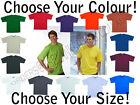 | Mens 100% Cotton TShirt Tee | Black Red White Blue