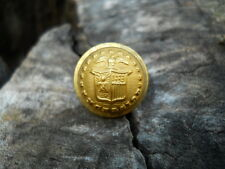 Old Rare Vintage Antique War Relic New York Gold Gilded Button