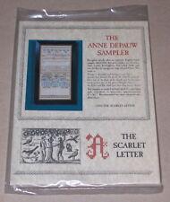"""Scarlet Letter """"Anne Depauw Sampler"""" Linen Cross Stitch Kit 8x16.5"""""""