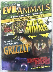 Evil Animals DVD Box Set Day of + Grizzly + Devil Dog Horror Movie Triple Bill