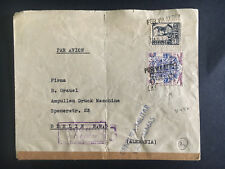1937 las Palmas Spain Cover to Berlin Germany Censored