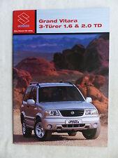 Suzuki Grand Vitara 3-Türer 1.6 / 2.0 TD - Prospekt Brochure 06.2003