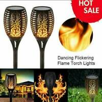 LED Solar Lights Outdoor Waterproof Flickering Flame Garden Light Path Decor