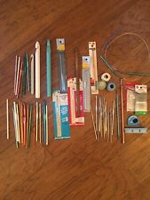 Vtg Crochet Knit Hooks Lot 45+ Modern Metal Plastic Knitting Needles Tat Thread