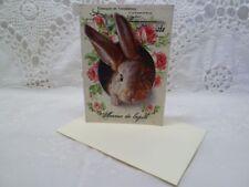 Klappkarte-Geschenkkarte-Grußkarte-Vintage-Retro-Shabby-French-Ostern-Hase-10027