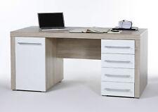 Schreibtisch Cube, Eiche sonoma/weiß, Breite 160 cm, Arbeitszimmer, Tisch
