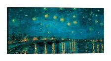 VINCENT VAN GOGH The Starry Night Stampa su tela Canvas effetto dipinto
