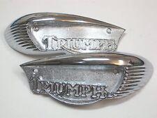 Triumph tank badges 1966 1967 & 1968 large brow type UK Made badge set