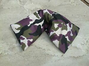 ARMY GREEN CAMOUFLAGE COTTON MICROWAVE UNSCENTED WHEAT BAG LONG FOR NECKS & BACK