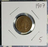 1907 INDIAN HEAD CENT COLLECTOR COIN FREE SHIPPING