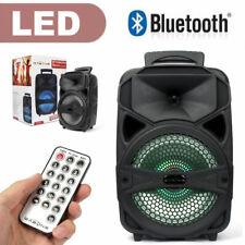 """8"""" 1000W Portable FM Bluetooth Speaker Subwoofer Heavy Bass Sound System Party"""