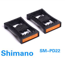 Shimano SM-PD22 SPD Cleat Flat Pedal Adapters Pair with Reflector M540 M520 M780