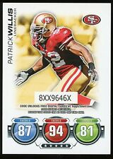 2010 TOPPS ATTAX PATRICK WILLIS - SAN FRANCISCO 49ERS - FREE SHIPPING