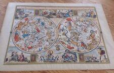 1631 La Globe Celest Sky Astrology / Astronomy Zodiac Color  map