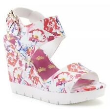 NIB Womens Juicy Couture Trish Floral Wedge Sandals, Size 7