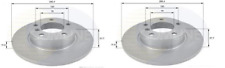 NEW PAIR SOLID FRONT BRAKE DISCS BMW 3 SERIES 316 318 Z3 E36 1.6 1.7 1.8 1.9