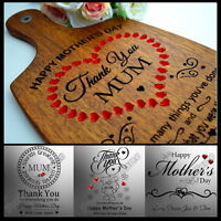 Personalised Engraved Mother's Day Gift For Mum Cutting Board Present Customized