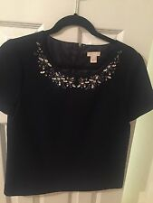 J Crew Collection Embellished Top Sz 2