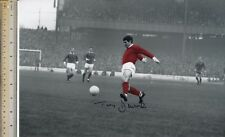 TONY DUNNE MANCHESTER UNITED LEGEND SIGNED L-A-R-G-E VINTAGE ACTION PHOTO