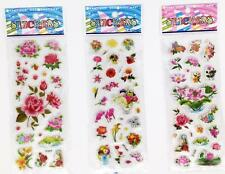 "Hot Sticker Lot Wholesale 3d Cartoon Small Pvc Stickers Lot""flowers""Children"