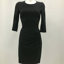 Issa Bodycon Dress Womens Size UK 6 Black 3/4 Sleeve Formal Occasional 281711