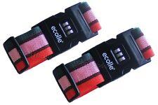 2 x Koffergürtel Kofferband Koffergurt Kofferschloss mit Zahlenschloß 5cm x200cm
