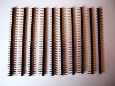 """10 piezas 40 Pin macho de una sola fila tira 2.54 mm pin conector 0.1"""" del encabezado Recto"""