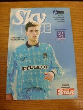 16/10/1993 Coventry City v Southampton  . Thanks for viewing this item, buy with