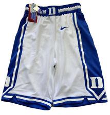 Men's Nike White Duke Blue Devils Replica Team Basketball Shorts: Men's Small