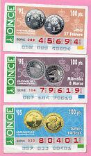España Cupones ONCE Tema Monedas año 1995 (CB-38)