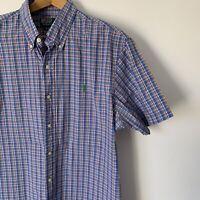 Mens Polo Ralph Lauren Casual Short Sleeve Shirt Size XL Slim Fit Summer Cotton