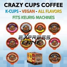 Crazy Cups Coffee 22 K Cup Vegan Capsule Pod Light/Medium/Dark Roast lot FLAVORS