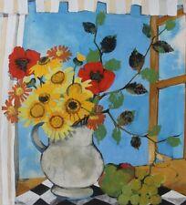 Jeanin KOSTIA BLANCHETEAU (1932-2013) Gouache Nle Ecole de Paris Jeune Peinture