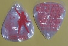 Cheap Trick Rick Nielsen 2017 All Alright Tour White Marble Red fnt Guitar Pick