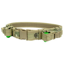 CONDOR TACTICAL BELT WITH PISTOL MAG POUCHES AIRSOFT CADET WEBBING MULTICAM CAMO