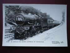 POSTCARD RP A CASTLE CLASS LOCO ON DOWN EXPRESS AT SONNING