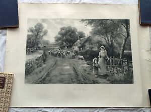 Antique Lithograph 'The Old Farm' - Ernest Walbourn - Imperial Fine Art Corp