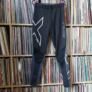 2XU Women Compression Tights Leggings Black Size M 7/8th length Fitness Running