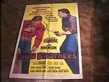 GUN BROTHERS MOVIE POSTER '56 BUSTER CRABBE
