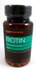 Amazon Elements Biotin 5000 mcg Hair, Skin & Nail Health Vegan - 130 Capsules