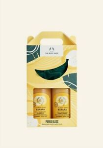 The Body Shop Bananas Gift Set Duo Shampoo Conditioner Head Band hair care duo