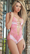 Women's Ladies Sexy Lingerie Lace Bra G-string Babydoll Conjoined Nightwear Sets