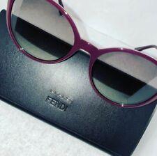 FENDI FF 0288 0T7 9O Round Gradient Logo Sunglasses Purple 56mm (MSRP $450)