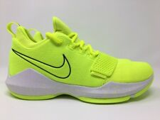 Nike PG 1 Volt Tennis Ball Paul George Basketball Shoes 878627-700 Mens SZ 10.5