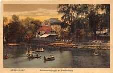 Br35496 Dusseldorf Schwanenspiegel mit Fischerhaus germany