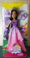 African American Barbie Dreamtopia Cute Doll Pink Purple