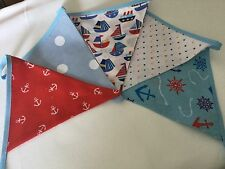 NAUTICAL Red, White And Blue Boys Bunting with Cath Kidston BLUE spot
