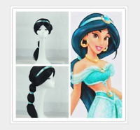 Details about  Jasmine Wig Princess Aladdin Fancy Dress Up Halloween Cos Costume