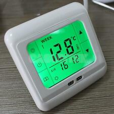 underfloor Heating Control Touch Screen Thermostat Program Green Backlight