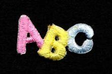 "Embroidered Iron-On Applique ""ABC"", 1 x 5/8 inch"